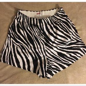 NWOT Zebra Print Soffe Shorts